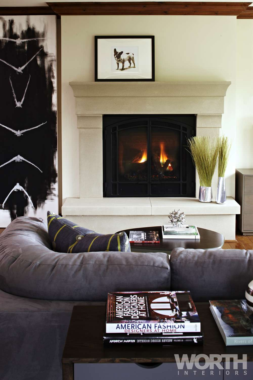 Ritz Carlton, Unit 312 Fireplace