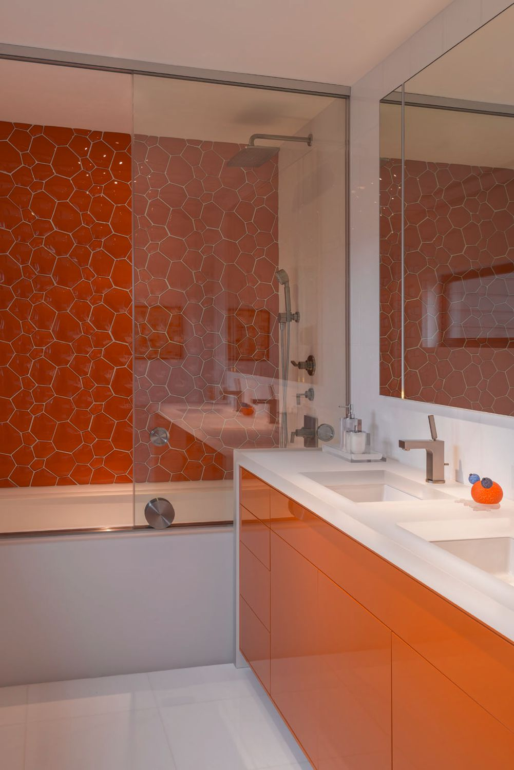 Bridgehampton Orange Bathroom