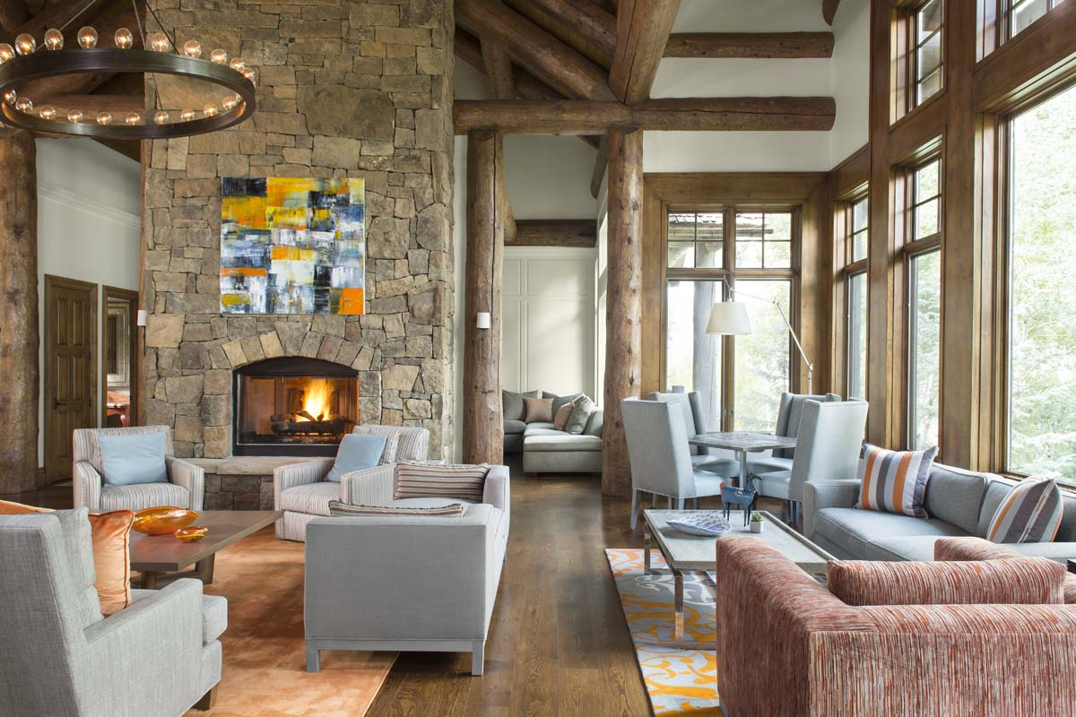 Log Home Living Space