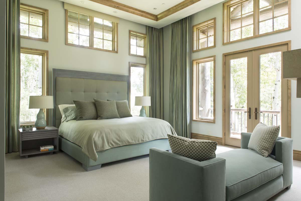 Log Home Master Bedroom
